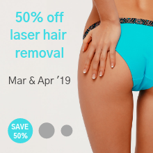 Laser hair removal special - Mar & Apr 19