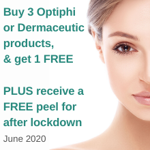 3 + 1 product offer PLUS complimentary peel - June 20