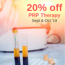 PRP Therapy - Sept & Oct 19