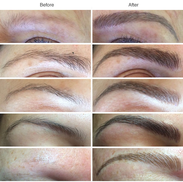 microblading before afetr